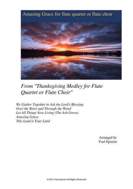 Amazing Grace for Flute Quartet or Flute Choir