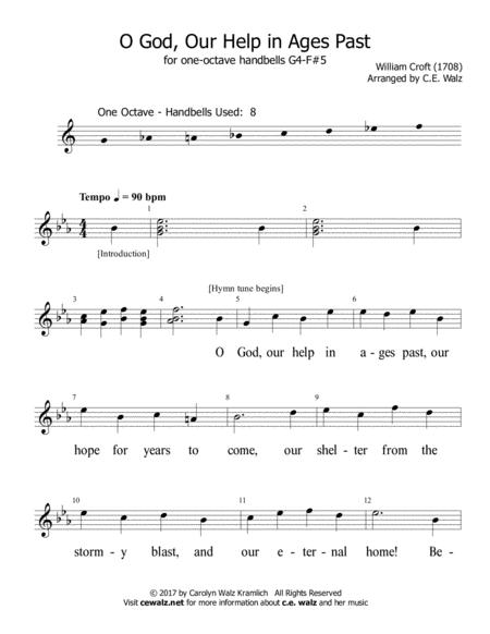 O God Our Help in Ages Past - One octave handbells G4 - F#5