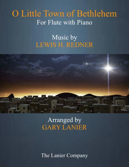 O LITTLE TOWN OF BETHLEHEM (Flute with Piano & Score/Part)