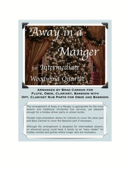 Away In A Manger for Intermediate Woodwind Quartet