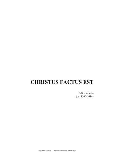 CHRISTUS FACTUS EST - Anerio