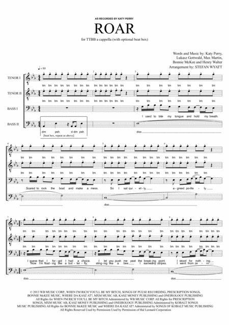 Roar - TTBB a cappella