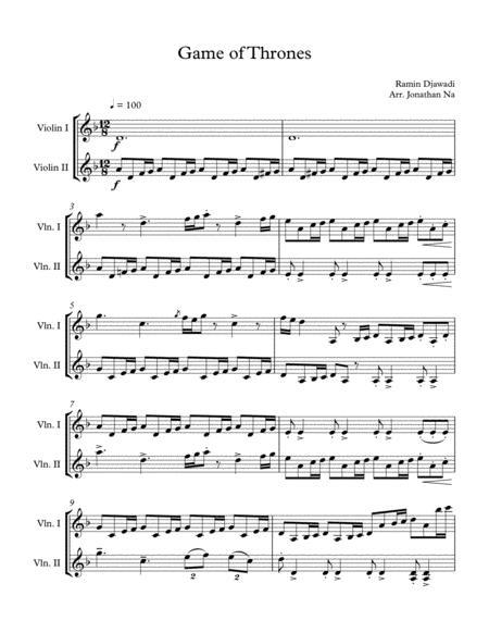 Game Of Thrones Title (Violin Duet)