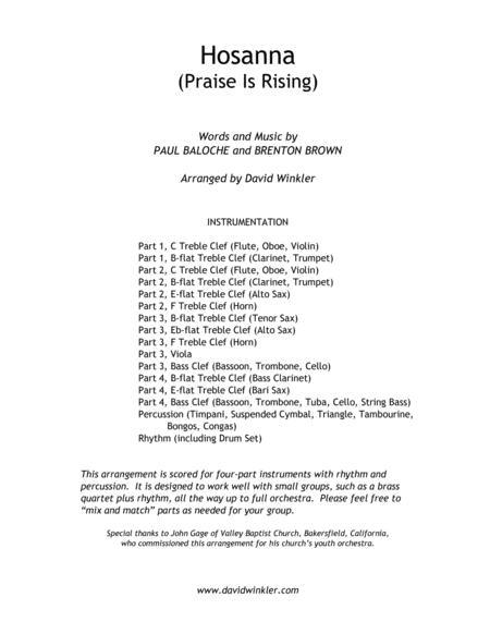 Hosanna (Praise Is Rising)