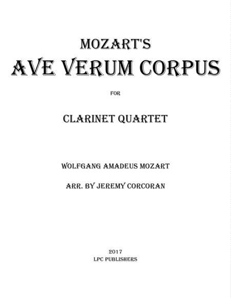 Ave Verum Corpus for Clarinet Quartet