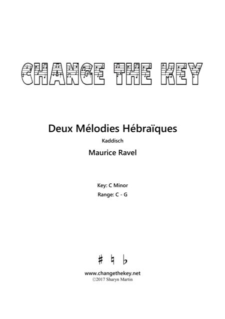 Deux Melodies Hebraiques - Kaddisch - C Minor