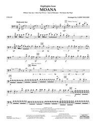 Highlights from Moana - Cello