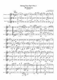 Beethoven: String Trio No.3 in G Op.9 No.1 Mvt.III Scherzo - clarinet  trio