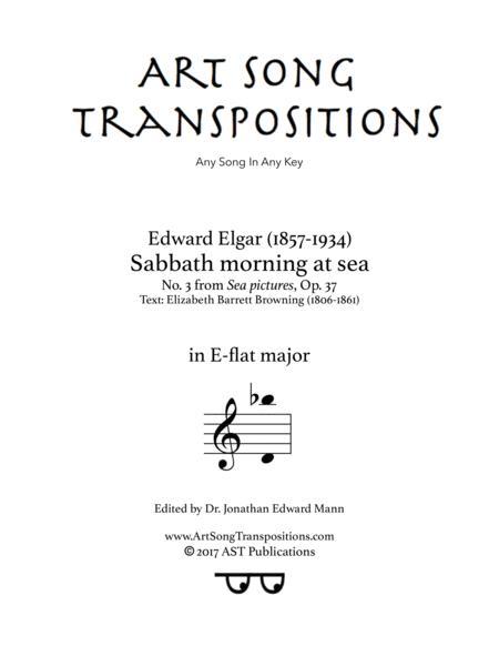 Sabbath morning at sea, Op. 37 no. 3 (E-flat major)
