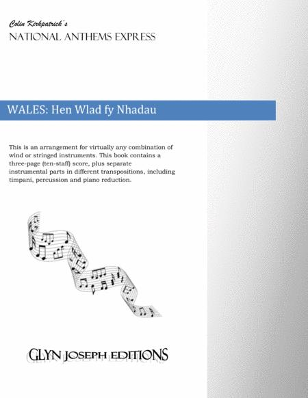 Wales National Anthem: Hen Wlad fy Nhadau (The Land of my Fathers)