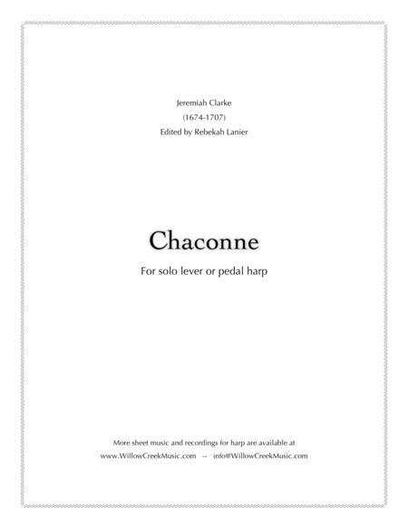 Chaconne by Jeremiah Clarke - solo harp