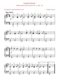 Funeral March (Theme from Piano Sonata No. 2, Op. 35) for EASY PIANO