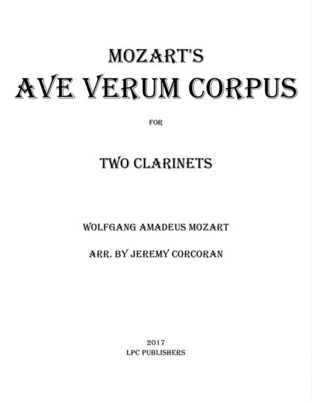 Ave Verum Corpus for Two Clarinets