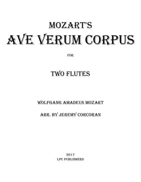 Ave Verum Corpus for Two Flutes