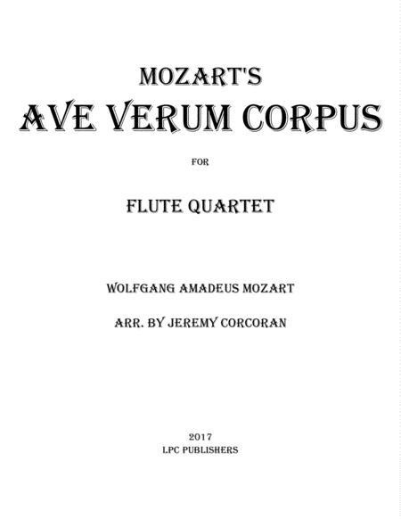 Ave Verum Corpus for Flute Quartet