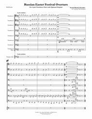 Russian Easter Festival Overture for 8-part Trombone Choir w. opt. Timpani