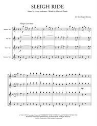Sleigh Ride for Saxophone Quartet