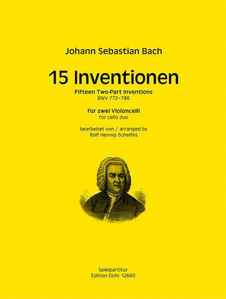 15 Inventionen BWV 772-786 (fur zwei Violoncelli)