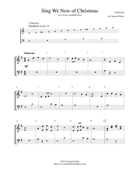 Sing We Now of Christmas - for 3-octave handbell choir
