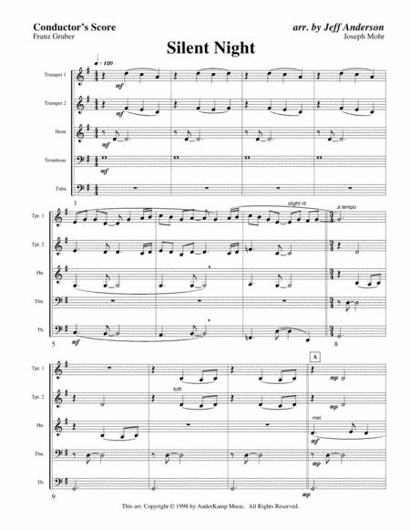 Silent Night for Brass Quintet