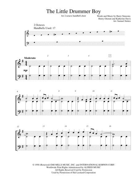 The Little Drummer Boy - for 2-octave handbell choir