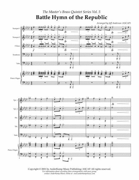 Battle Hymn of the Republic for Brass Quintet