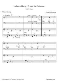Lullaby of Love - A Christmas Song (for SATB choir)