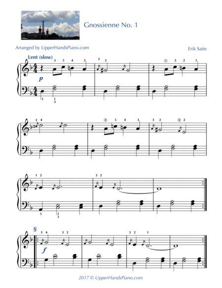 Gnossienne No. 1 - EASY PIANO