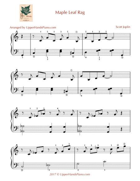Download Maple Leaf Rag - EASY PIANO Sheet Music By Scott Joplin ...