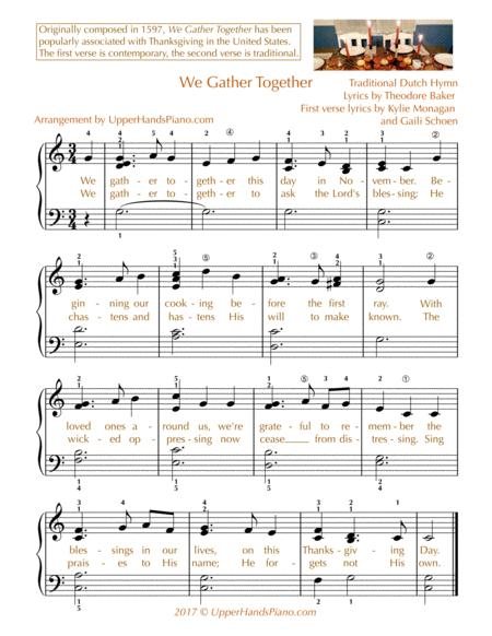 We Gather Together - EASY PIANO