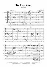 Tochter Zion - Choral & Shuffle - Brass Quintet