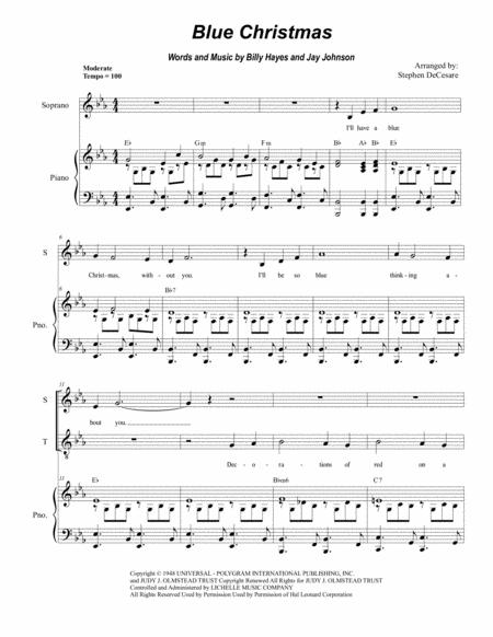 Blue Christmas (Duet for Soprano and Tenor Solo)