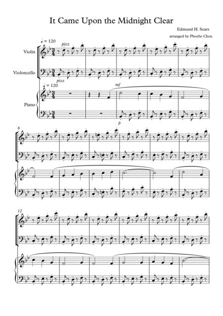 It Came Upon the Midnight Clear (trio for violin/ cello / piano)
