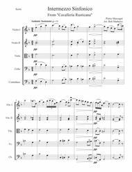 Intermezzo by Mascagni for String Orchestra or String Quartet
