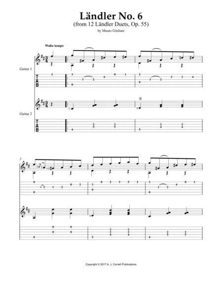 Ländler No. 6 (from 12 Ländler Duets, Op. 55)