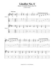 Ländler No. 8 (from 12 Ländler Duets, Op. 55)