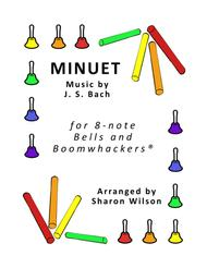 Minuet for 8-note Bells and Boomwhackers® (with black and white notes)