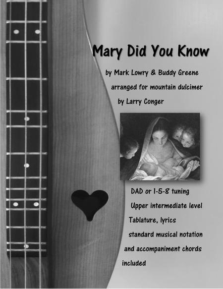 Mary, Did You Know? (solo)