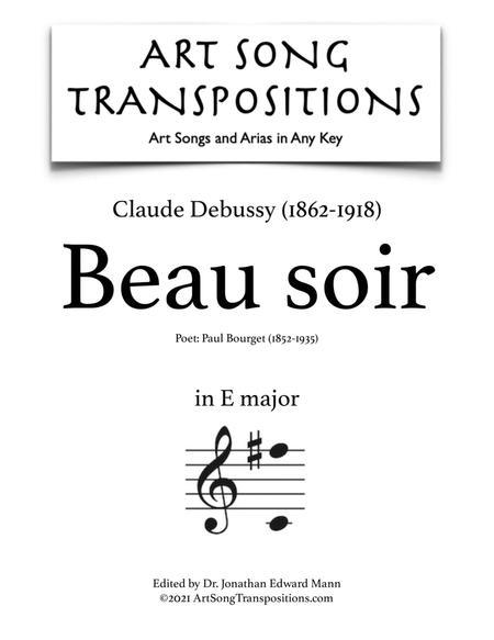 Beau soir (E major)