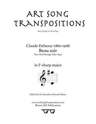 Beau soir (F-sharp major)