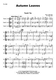 Autumn Leaves - Jazz Classic - Les feuilles mortes - Trumpet Trio