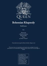 Queen - Bohemian Rhapsody for Rock Band and 4 Tenor Voices Transcription