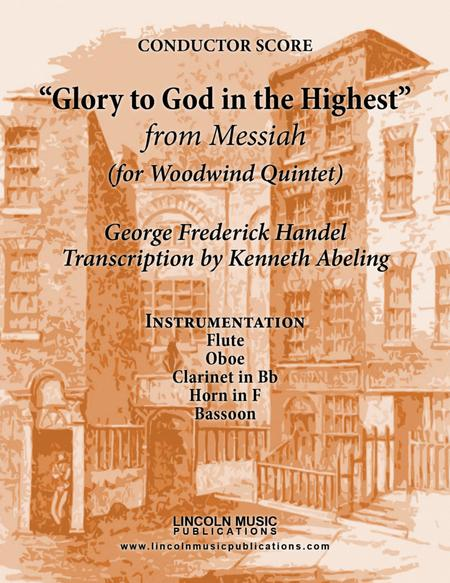 Handel – Glory to God in the Highest from Messiah (for Woodwind Quintet)