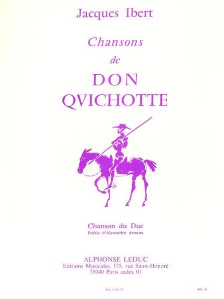 Chansons de Don Quichotte No.3:Chanson Du Duc Chant et Piano