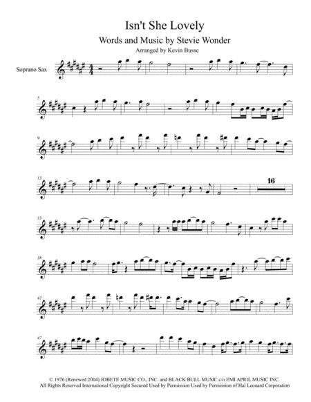Isn't She Lovely - Soprano - (Harmonica Solo)