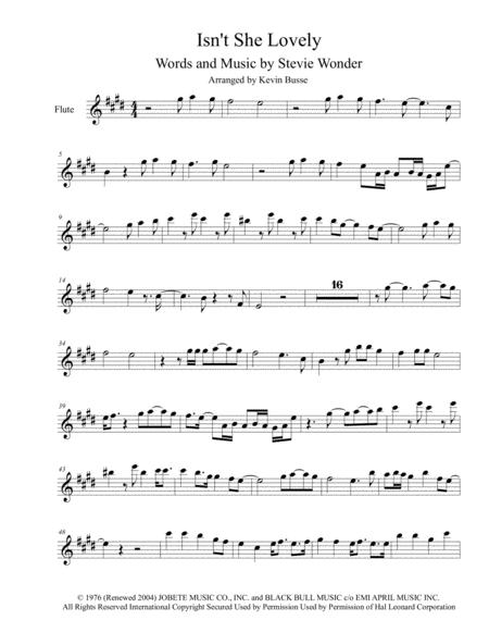 Download Isnt She Lovely Flute Harmonica Solo Sheet Music By