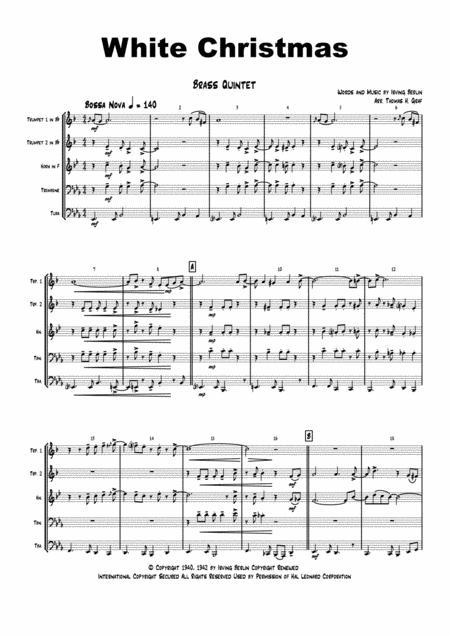 White Christmas - Bossa Nova - Brass Quintet