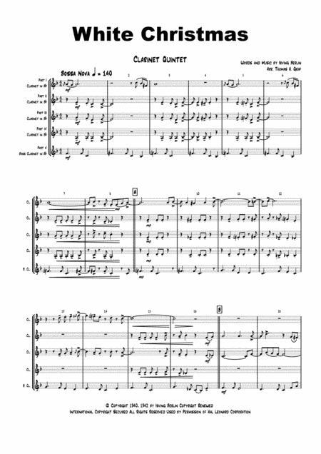 White Christmas - Bossa Nova - Clarinet Quintet