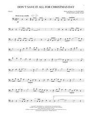 Don't Save It All For Christmas Day By Celine Dion - Digital Sheet Music For Cello Solo ...