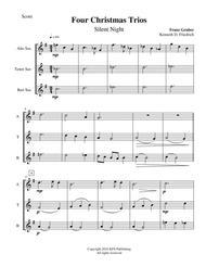 Four Christmas Trios - saxophone trio